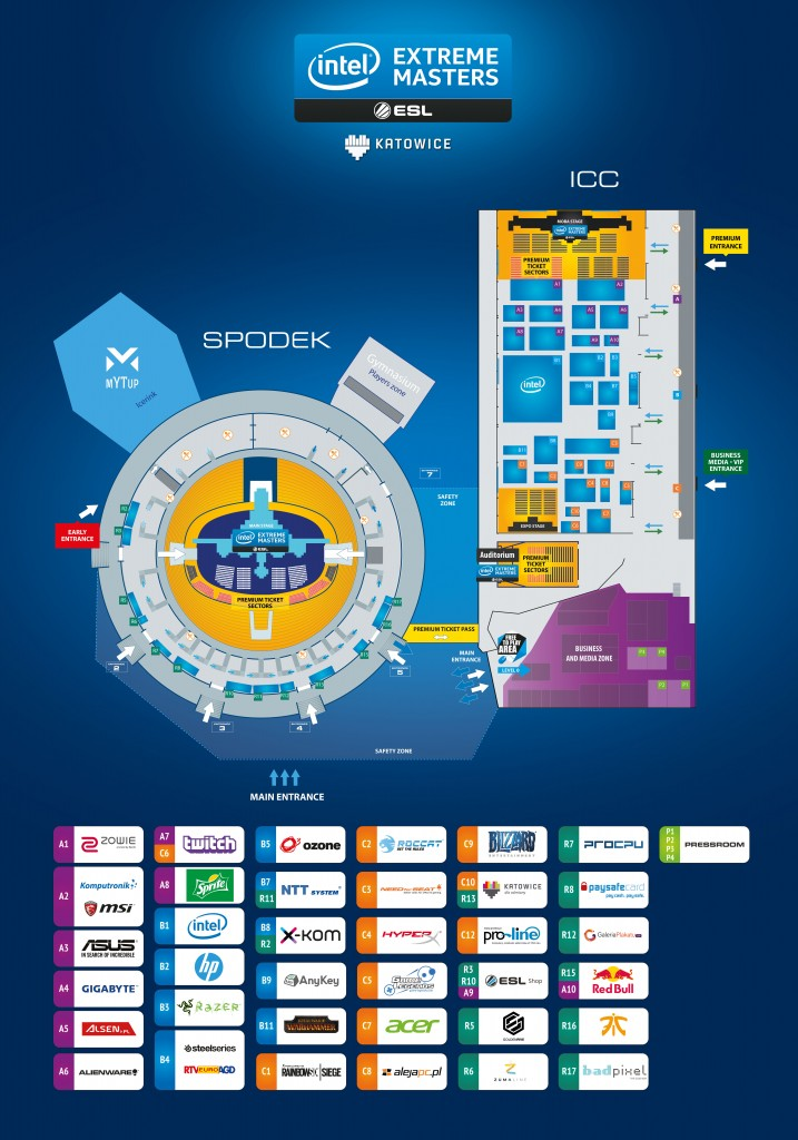 Plan IEM2016 i lista wystawców