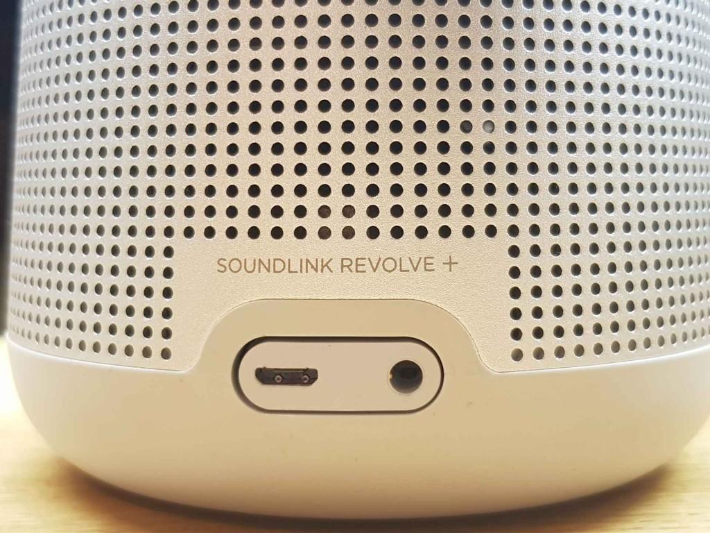 Wejścia głośnika Bose SoundLink Revolve+