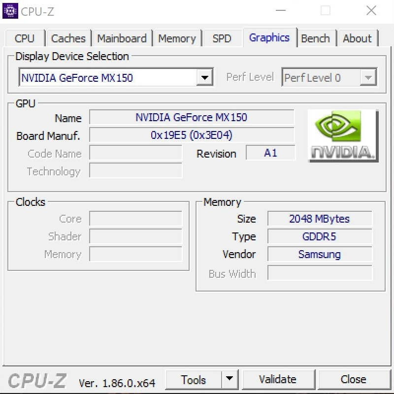Huawei MateBook X Pro - program CPU-Z