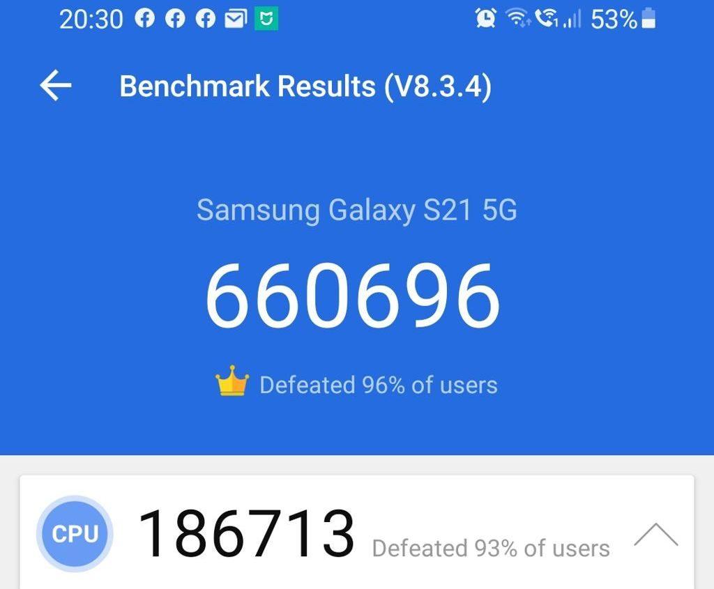 Galaxy S20 i S20FE w benchmarku AnTuTu
